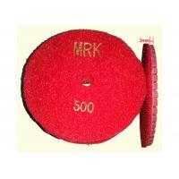 China High Working Efficiency 4  Resin Diamond Floor Polishing Pads For Stone 400# on sale