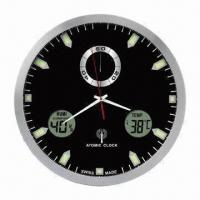 12-inch Atomic Analog Wall Clock with Indoor Temperature and Humidity and Weather Forecast Manufactures
