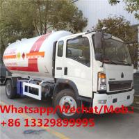 China HOT SALE! customized best price SINO TRUK HOWO 4*2 LHD 15,000Liters lpg gas dispensing truck, lpg gas transported truck on sale