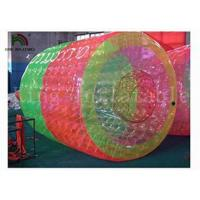 Quality 3m Long * 2.4 Dia Red / Green Inflatable Water Toy / Water Rolling Ball For Amusement for sale