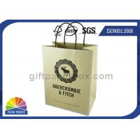 Custom Brand Printed Shopping Kraft Paper Bags With Twisted Paper Handle Manufactures