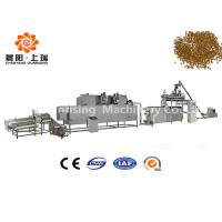 China Wet Method Floating Fish Feed Production Plant , Fish Food Making Machine High Output Capacity on sale