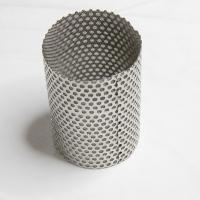 China 304 316L SS Wire Mesh Filter Cylinder / Perforated Filter Tube Custom Size Acceptable on sale