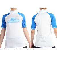Short Sleeve Lycra Rash Guards Surfing , body protection Shirt Size XS M for Girls Manufactures
