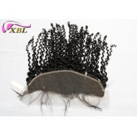 China Raw Indian Hair Ear To Ear Lace Frontal Closure 13x4 Deep Wave For Office Lady wholesale