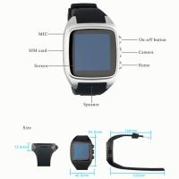Smart watch phone Touch screen android 4.4 Dual core 512M+4G, 3G, 5.0MP Camera, Wifi Manufactures