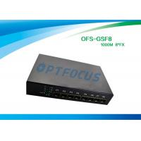 China 8 Port 12 Gbe SFP Fiber Optic Ethernet Switch 100 BASE - Fx DC5V 1A Power supply wholesale
