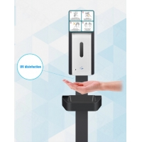 China 1L Floor Standing Touchless Automatic Sanitizer Dispenser on sale