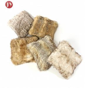 China Soft Plush Faux Fur Pillowscase Decorative Long Canadian fox Acrylic cushion cover on sale