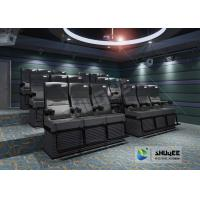 Black 4D Cinema Equipment Chair Play 3D Films , 4D seats With Sweep Leg And Push Back Effect Manufactures