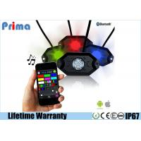 Multicolor RGB LED Rock Light Kits Bluetooth Control for JEEP Off Road Manufactures
