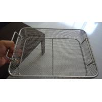 Professional Square Wire Mesh Basket Tray Electrolyzation And Polishing Surface Manufactures