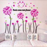 3D fashion acrylic wall stickers china home decor  Balloon flower sticker for kids room nursery school Manufactures