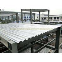 AISI ASTM Corrugated Steel Floor Decking Sheet Steel Structure 0.5mm - 1.2mm Manufactures