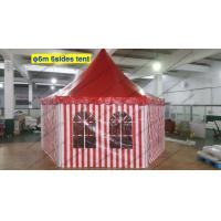 Six Sides Red And White PVC Cover Outdoor Pagoda Marquee With Transparent Windows Manufactures