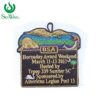 Delicate Sawing On Custom Woven Patches / Soft Clothing Badges Patches Manufactures