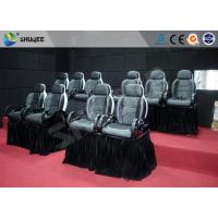 Motion Chair For 5D Movie Theater With Fiberglass And Genuine Leather Material Manufactures