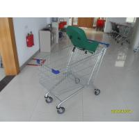Buy cheap Comfortable Handle Supermarket Shopping Cart , Metal Shopping Trolley With Safety Baby Capsule from wholesalers