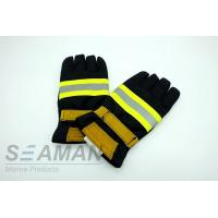 Fire Retardant Aramid Fiber Leather Fireman Protective Gloves Fire Fighting Equipments Manufactures