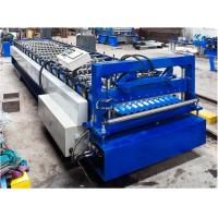 Steel Corrugated Roof Panel Roll Forming Machine 16 / 18 Steps CE Approval Manufactures