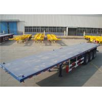Carbon Steel Flatbed Semi Trailer 40000kg With Dual Line Braking System Manufactures