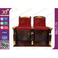 China Fire Retardant Commercial Fabric Auditorium Theater Seating / Concert Hall Chairs on sale