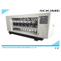 Up And Down Lift Type Slitter Scorer Machine For Cutting Corrugated Box PLC Controlled Manufactures
