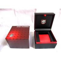 Red Handcrafted Plastic Watch Boxes , Luxury Watch Storage Box 110*110*85mm Manufactures