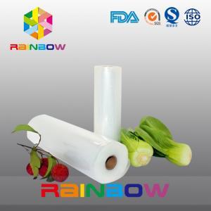 Resealable Sous Vide Food Save Vacuum Bag / Food Boiling Plastic Channal Bag Manufactures