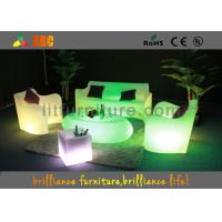 Polyethylene Bar / Club LED Furniture Durable With Wireless Remote Control Manufactures