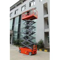 Electric Hydraulic Self Propelled Scissor Lift , Mobile Scissor Lift 12m Lift Height Manufactures