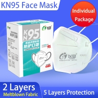 5 Ply Protective Hygiene Dustproof KN95 Face Mask Manufactures