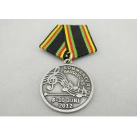 Promotional Gift Brass / Copper / Zinc Alloy Custom Awards Medals with Special Ribbon, Die Stamping Manufactures