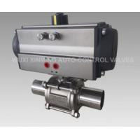 China ball valve witth pneumatic actuator  pneumatic flow control valves on sale