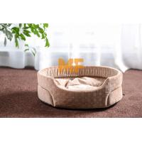 Indoor Round Small Dog Kennel / Cat Kennel Pets Dog Bed With Fabric Material Manufactures