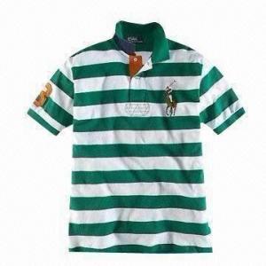 China Men's T-shirt, Made of 100% Cotton Ring-spun on sale