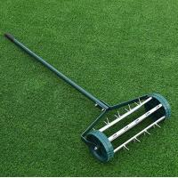 Outdoor Easy Rolling Garden Lawn Aerator Anti Rust Powder Coated Material Manufactures