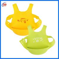 China wholesale easy clean silicone baby bibs with FDA High Grade for sale