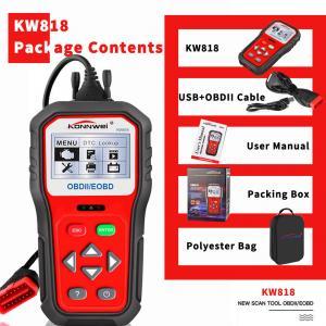 Portable Auto Diagnostic Code Reader Multi Languages KONNWEI KW818 Manufactures