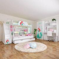E0 Grade Bunk Bed/Kids' Bedroom Set/Children Furniture/Wooden Bedroom, Princess, Disney, Chair Manufactures