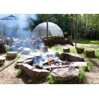 Amusement Park Geodesic Dome Tent For Glamping Wind Loading 100km / Hour Manufactures