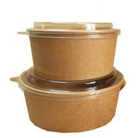 Buy cheap 32 Oz Kraft Compostable Salad / Hot Food Paper Snack Bowls Grease Resistant from wholesalers