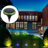 External 8 Leds Solar Ground Lights / Garden Lawn Yard Solar Powered Sensor Security Light Manufactures