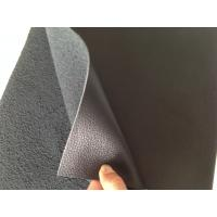 Nappa Design Black Bonded Leather Fabric 1.0mm - 1.2mm Thickness