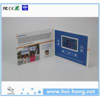 China TFT lcd advertising digital video player greeting cards on sale