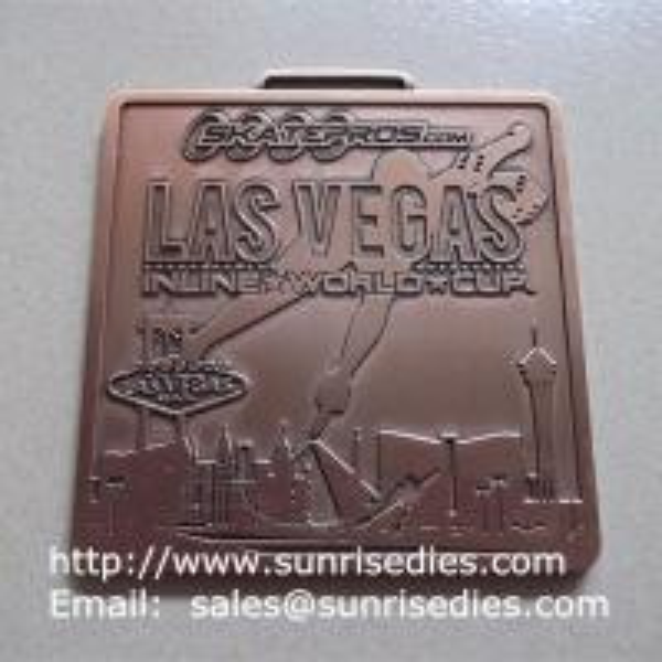 2D Square metal medallions