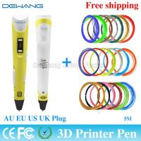 Yellow handheld 3d printer pen with 0.4mm - 0.7 mm Nozzle Diameter Manufactures