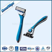 Triple Blade Straight Edge Shaving Razor Men Use Blue With Chrome Coated Handle Manufactures