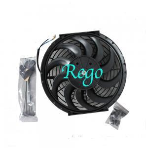 China 12 Volt Universal Automotive Radiator Cooling Fans 12 Inch Black Color on sale