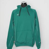 China Green Hooded Sweatshirt Jacket 65% Polyester 35% Cotton Brand Logo On The Left Chest on sale